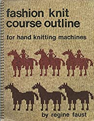 Fashion knit course outline for hand knitting machines