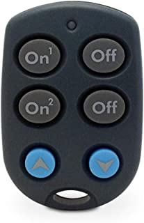 Keychain Remote for 2 Devices w/ Bright & Dim Buttons (KR19A/PHR04/RKR24)