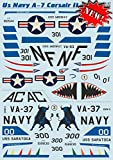 Decal for Airplane US Navy A-7 Corsair II, Part 2 1/48 PRINT SCALE 48-127