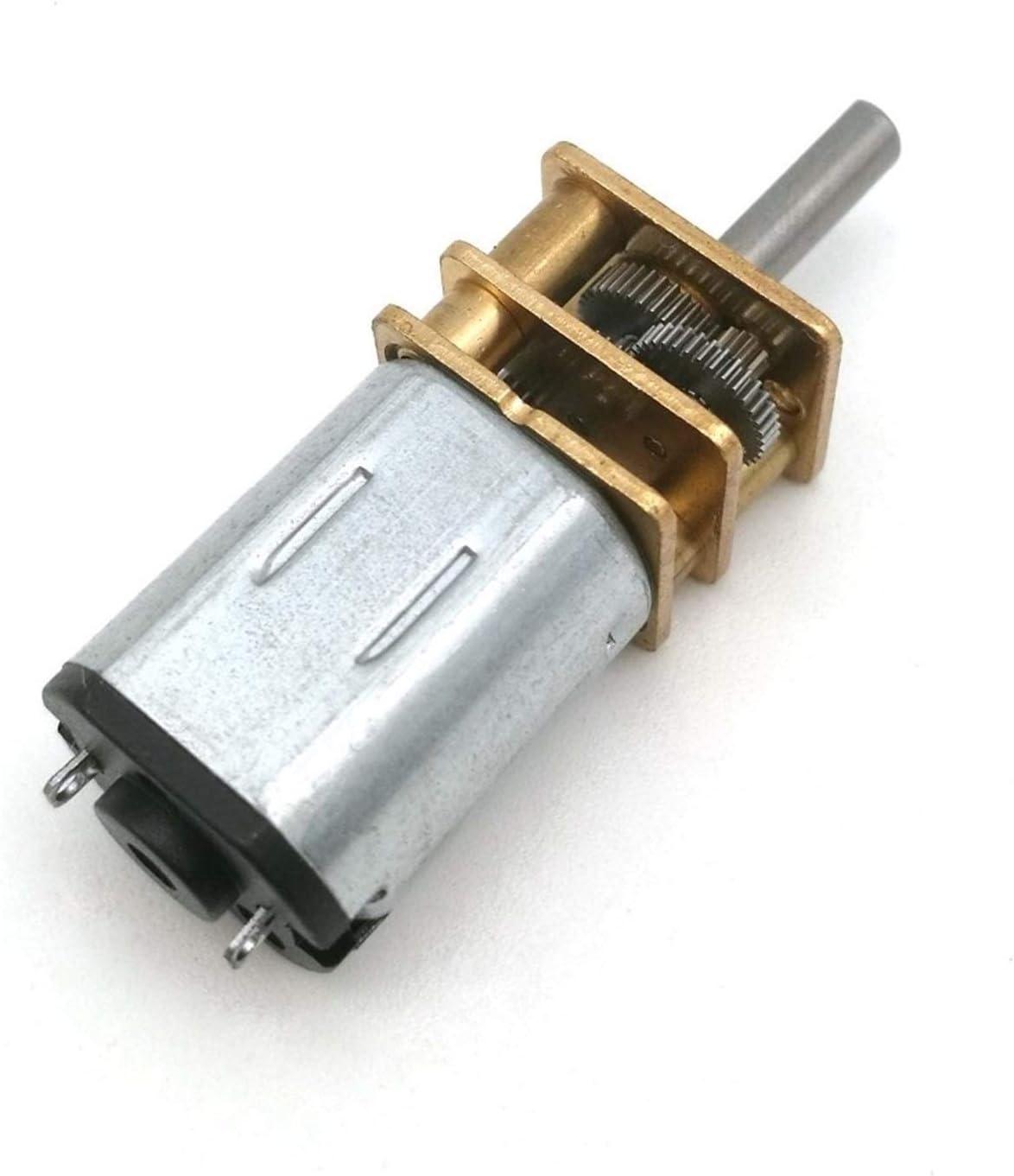 Voltage Speed V WSCHENG 1Pc Electric N20 Micro Speed Gear Motor DC 3V 6V 12V Reduction Gear Motor Gear Reducer Motor For Car Robot Model : 3V : 15RPM RPM