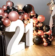 Amazon Com Rose Gold And Black Party Decorations