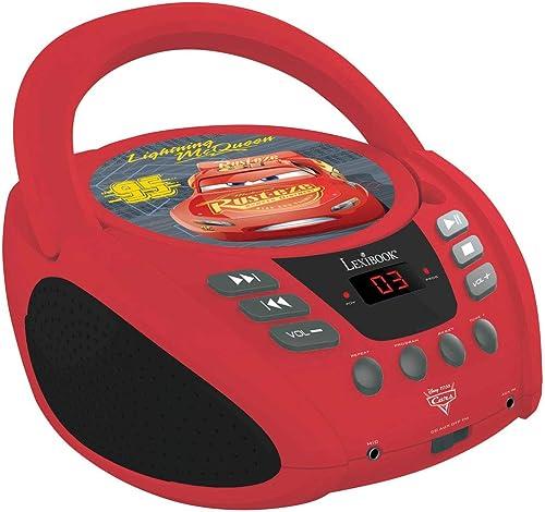 LEXIBOOK Disney Pixar Cars 3 Flash McQueen Radio lecteur CD, Prise écouteurs, Entrée line-in, Pile ou Secteur, Rouge/...