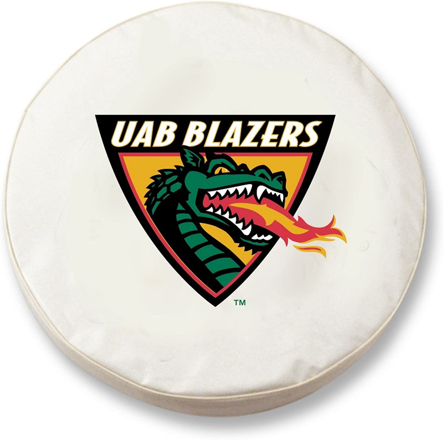 UAB Blazers HBS White Vinyl Fitted Spare Car Tire Cover