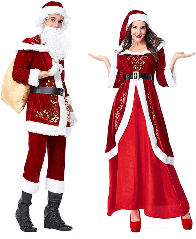 FAFY Weihnachtskostüm Weihnachtsmann Kostüm Weihnachten Cosplay Herren Damen Kostüm Outfits überschuh,Men-M