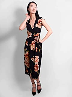 Doyenne Floral Wrap Dress