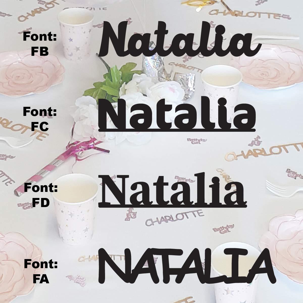 2021 model NATALIA - Name High material Confetti in Metallic Includes 12 Colors.