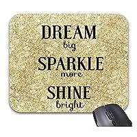 ドリームビッグスパークルパープルのマウスパッドで明るく輝くよりおしゃれなオフィスデスクトップアクセサリー