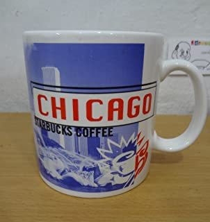 Starbucks Chicago Large 18 oz Coffee Tea Mug 1999 Hancock Buckingham Fountain