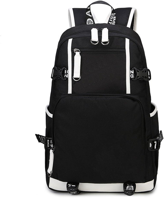 MSZYZ MultiFunction Middle School Schoolbag Double Shoulder Bag Waterproof Retro Travel Backpack Man Bag,Black,463014CM