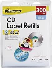 Memorex 300-Labels Wht Matte Cd Labels For Inkjets Lasers