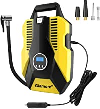 Glamore Portable Air Compressor for Car Tires, Digital Tire Inflator, 12V DC Air..