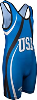 KO Sports Gear USA Blue Wrestling Singlet