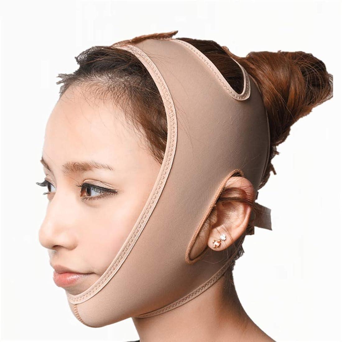 消毒剤パパ質量Jia Jia- 顔の持ち上がる痩身ベルト - アンチエイジングリンクルフェイスマスクベルトシンフェイス包帯整形マスクは顔と首を締めますフェイススリム 顔面包帯 (サイズ さいず : M)