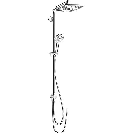 Hansgrohe 27289000 Crometta E 240 columna de ducha para renovaciones, 2 tipos de chorro, cromo