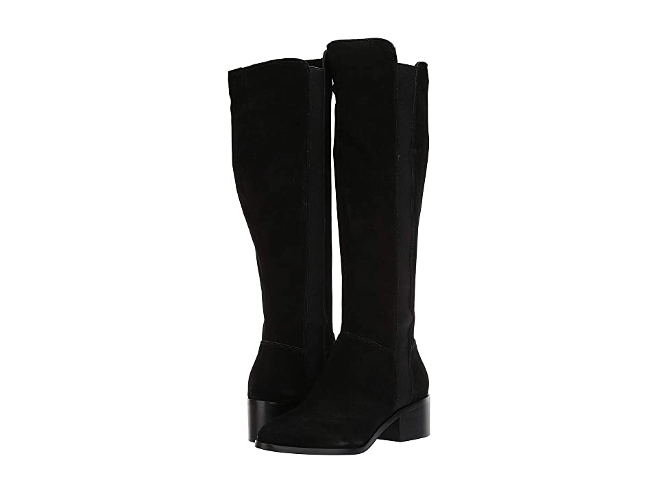 Steve Madden Giselle To the Knee Boot (Black Suede) Women