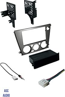 ASC Audio Car Stereo Radio Install Dash Kit, Wire Harness, and Antenna Adapter to Add an Aftermarket Radio for 2005 2006 2007 2008 2009 Subaru Legacy + Outback with Manual Climate Control,