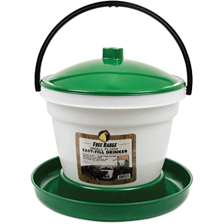 Blue Unheated No Roost Top /& Non-Spill Refill K/&H Pet Products Poultry Waterer 2.5gal.