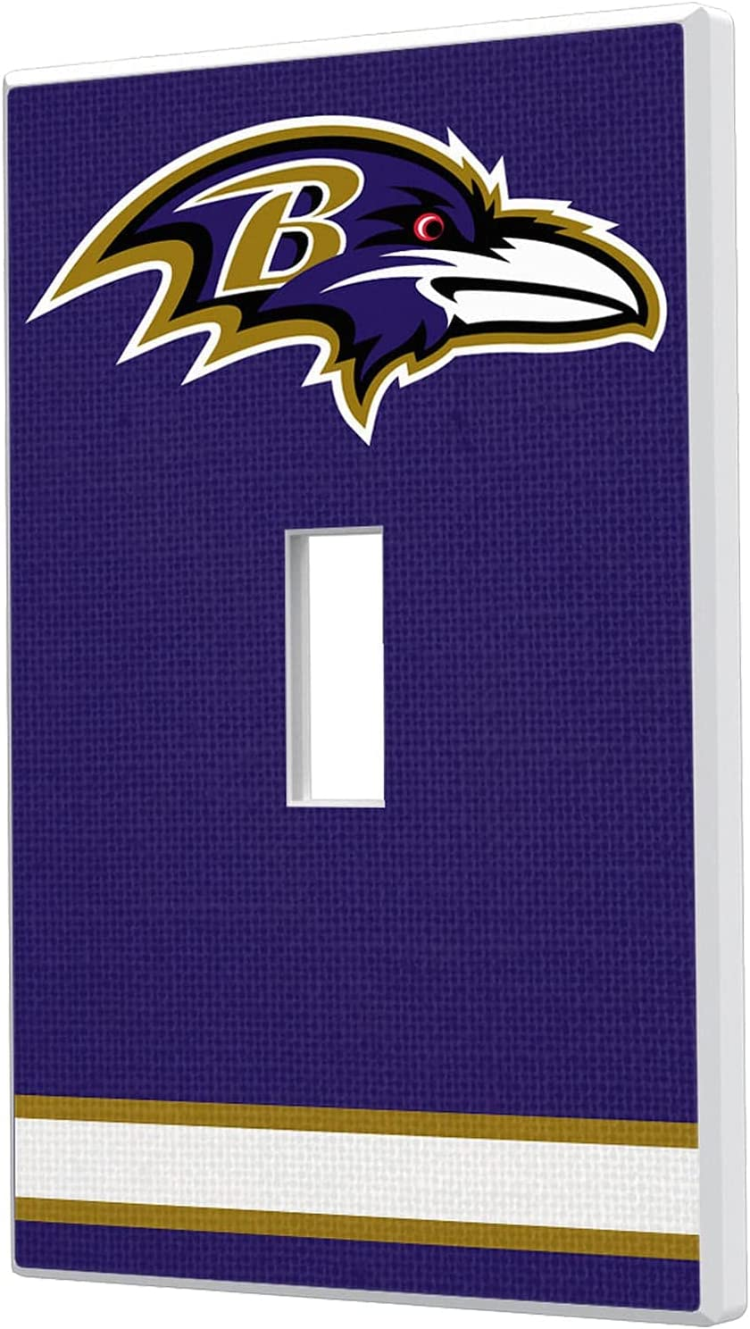 Baltimore Ravens Stripe Popularity Single Plate Toggle Cheap mail order shopping Light Switch