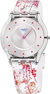 Swatch Girl's SFE102 Classic Jardin Fleuri Swiss Quartz Watch