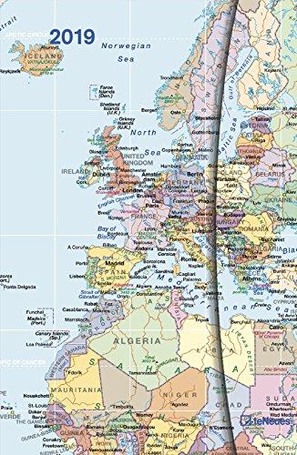 2019 World Maps Diary - teNeues Magneto Diary - 10 x 15 cm (English, German, French, Italian and Spanish Edition)