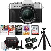 $1499 » Fujifilm X-T30 Mirrorless Camera (Silver) w/18-55mm Lens Accessory Bundle+ Sandisk 64GB Ultra UHS-I + 2 NP-W126 & Dual Charger + Tripod + Deluxe Photo Software