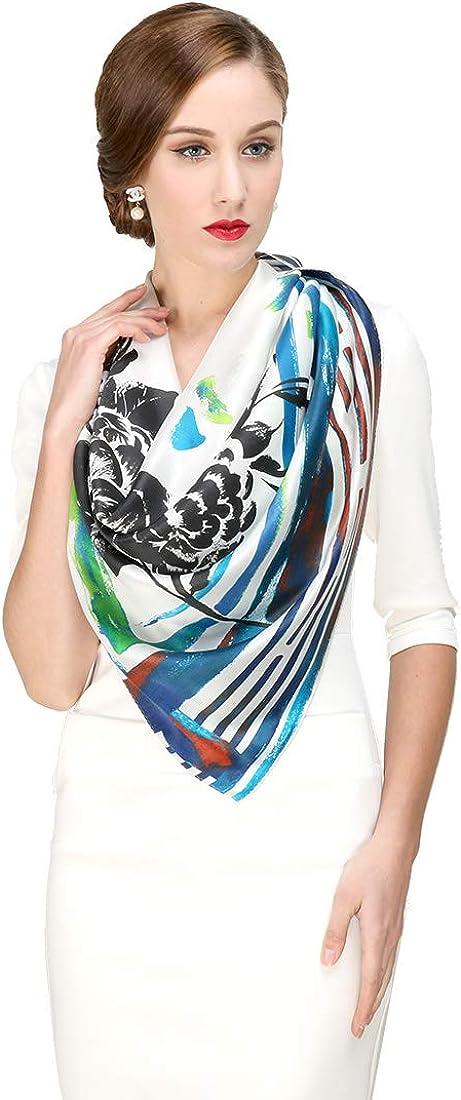 DANA XU Women's Silk Fashion Pashmina Shawls Wraps Face Scarf Mask Bandana