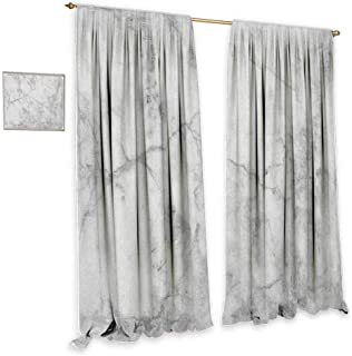 cobeDecor Marble Light Luxury high-end Curtains Fractured Lines Stained Grunge Surface Effects Ceramic Style Background Artful Motif Privacy Protection 55