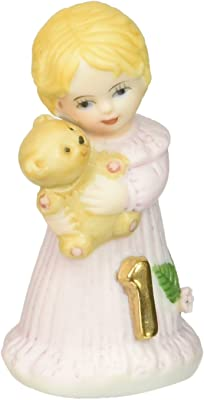 "Enesco Growing Up Girls ""Blonde Age 1"" Porcelain Figurine, 1.75"""