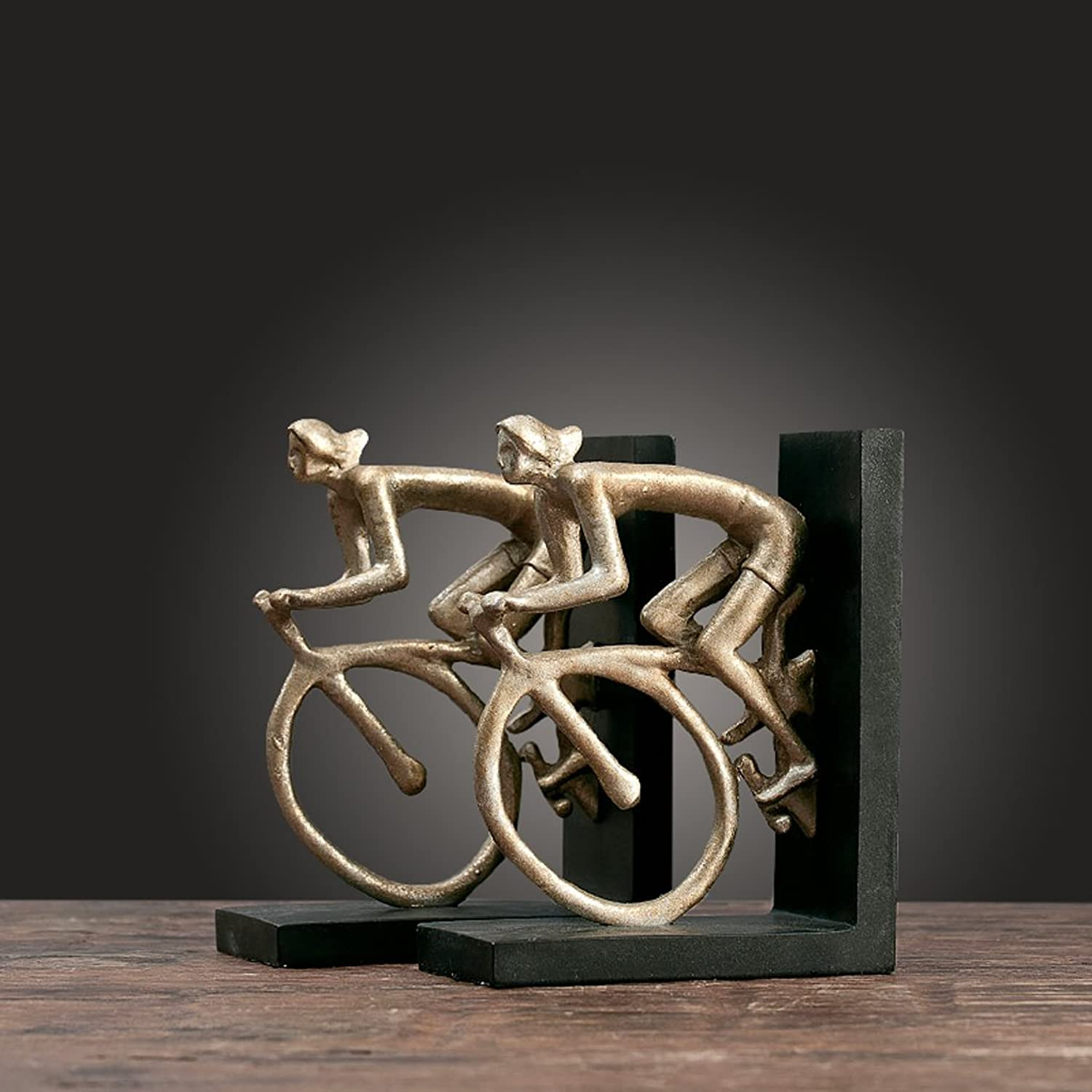 American Retro Abstract Bicycle Resin Bookshelf Home Decorations Wine Cabinet Indoor Living Room Coffee Table TV Cabinet Office Desk Wedding Gifts