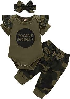 Nilikastta 3PCS Baby Girl Clothes Infant Boy Outfit, Romper Bodysuit Pants Set