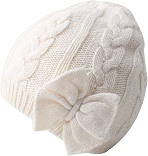 Baby Hat Girls Cotton Lined Infant Toddler Girls Hat Autumn Cute Bow Girls Beanie Winter Warm Knitted