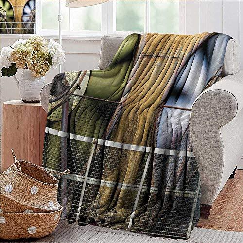 PearlRolan Flanell-Überwurf, für Industrie, Umzugs-Fans, große Maschinen-Produktion, Twisting Zaundruck, Mehrfarbig, für Bett und Couch Sofa, pflegeleicht, 88,9 x 152,4 cm