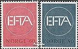 Prophila Collection Noruega 551-552 (Completa.edición.) 1967 aelc-países (Sellos para los coleccionistas)