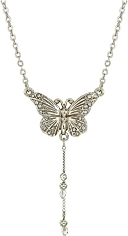 Solstice Butterfly Dangle Necklace