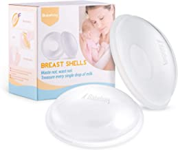 Breast Shells, Nursing Cups, Milk Saver, Protect Sore Nipples for Breastfeeding, Collect Breastmilk Leaks for Nursing Moms, Soft and Flexible Silicone Material, Reusable, 2-Pack