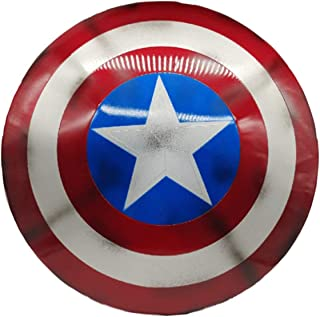 Captain America Costume Metal Shield 1:1 Legends Series Film Props for Adult Shield 23.6 inch Cosplay Movie Props,Film's 7...