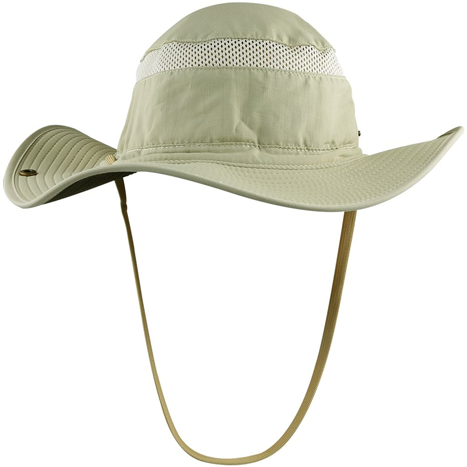 AKASO Sun Hat for Men & Women - Wide Brim Bucket Hat, Breathable Boonie Hat,UPF 50+ Sun Protection Fishing Hat for Camping Hiking Hunting Golf