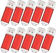 Pendrive 256MB 10 Piezas Portátil Memorias Flash USB 2.0 - Mini Metal USB Flash Drive Almacenamiento de Datos - Rojo Pequeña Capacidad Pen Drive Llaves USB para Promoción
