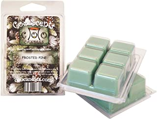Coo Candles 3 Pack Soy Frosted Pine Highly Scented Wickless Candle Bar Wax Melts - Great for Christmas and Holidays