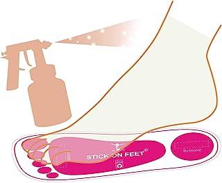 25 Pairs(50Feets) Premium Spray Tan Feet Pads Protectors PRO Sunless Airbrush Spray..