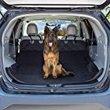 Cargo Liner Dog Seat Cover- Quilted Waterproof All Weather Non-Slip Trunk Pet Travel Mat with Bumper Flap Protector for SUVs by PETMAKER