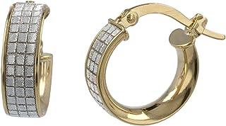 Gioiello Italiano - Orecchini a cerchio piccoli in oro giallo e bianco