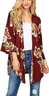 Best burgundy floral cardigan Reviews