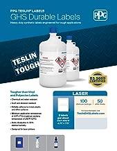 PPG Teslin Blank GHS Chemical Labels for Laser Printers, Durable, UV Resistant, Waterproof, 4.75