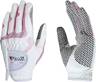 Women's Golf Glove One Pair (4 Color Options), Improved Grip System, Cool and Comfortable