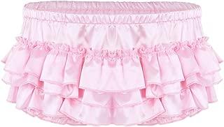 Men's Sexy Satin Ruffled Crossdress Bloomer Skirted Sissy Panties Briefs Underwear