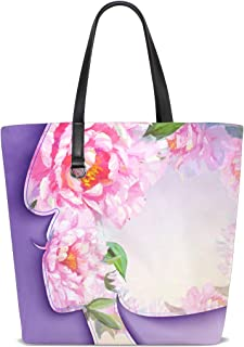 FANTAZIO Schultertasche für Damen, schöne junge Frau mit Blumenmuster im Haar, Tragetasche