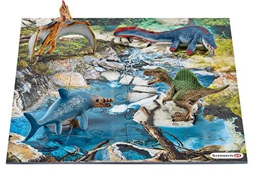 Schleich 42330 - Mini Dinos mit Puzzle Wasserstelle