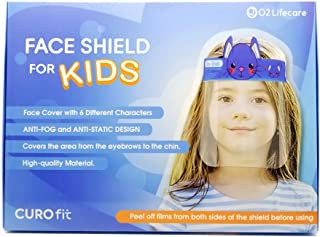 [O2 Lifecare] 6 Qty KIDS Face Shield, Face Cover with 6 Different from Each other Character Clear Visor Elastic Band & Confort Sponge x 6 qty