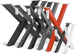 HOLZBRINK Tafelpoot vorm X met gesloten profielen 60x60 mm, tafelvoet 60x72 cm, Grijs antraciet, HLT-03-G-CC-7016